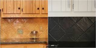 diy kitchen tile backsplash how to paint a tile backsplash my budget solution designer trapped