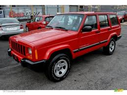 red jeep flame red 2001 jeep cherokee sport 4x4 exterior photo 59585979