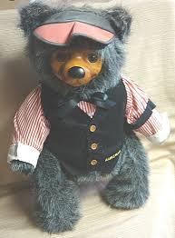 wooden faced teddy bears signed robert raikes the gambler teddy w wooden 423