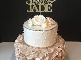 sweet 16 cake topper 16th birthday cake any name glitter happy sweet 16 birthday cake