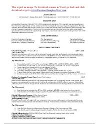 chef resume example chef resume template 11 free samples examples