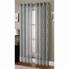 Boho Window Curtains Window Elements Sheer Boho Embroidered Sheer Faux Linen 96 In L
