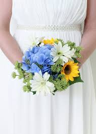 flower hydrangea sunflower hydrangea bouquet silk wedding bouquet afloral