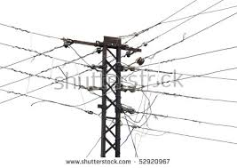 electrical wires on white background electric stock photo