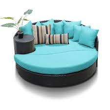 newport circular sun bed outdoor wicker patio furniture