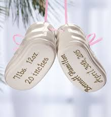 personalized baby christmas ornament personalized baby bootie ornament baby ornament exposures
