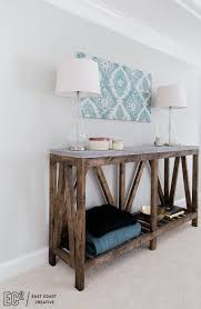 bedroom console table build a modern farmhouse console table in just a weekend for under