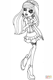 monster high draculaura coloring page free printable coloring pages