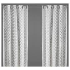 Ikea Gray Curtains Henny Rand Curtains 1 Pair White Gray Yellow Ikea