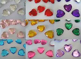 gems for table decorations scatter table confetti decorations gems crystals craft 10mm heart