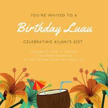luau invitations customize 97 luau invitation templates online canva