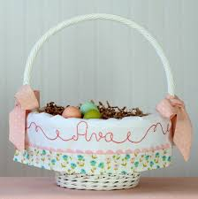 personalized easter basket liners personalized easter basket liner floral easter basket newborn