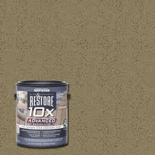 Concrete Patio Resurfacing Products by Rust Oleum Restore 4 Gal 10x Advanced Cedartone Deck And Concrete