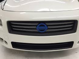 maxima nissan white white maxima u2013 blue accents and black out car skins gallery