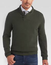 joseph abboud forest green shawl collar sweater s sweaters