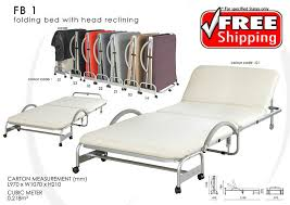 Folding Single Bed Foldable Bed With Head Reclining Function Single Size 11street