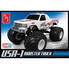 plastic model kit usa 1 4x4 monster truck snap kit amt