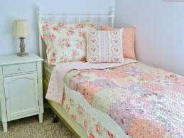 Shabby Chic Twin Quilt by Quilt Handmade Patchwork Twin Quilt Bed Set Lap Quilt Lecien