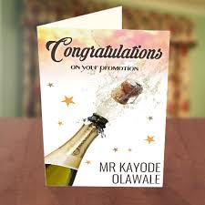 congratulations promotion card congratulations chagne pop card greetings world
