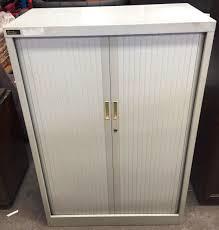 Brownbuilt Filing Cabinet Brownbuilt Grey Lateral Tambour Lot 855267 Allbids
