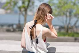 ribbon ponytail 38 easy summer hairstyles for every length and texture