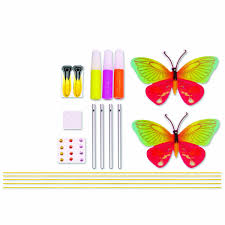 amazon com creativity for kids butterfly wind chime toys u0026 games