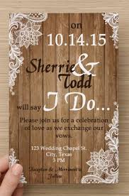 Wedding Invitations Rustic Rustic Vintage Wedding Invitations Blueklip Com