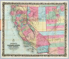 Map Of Arizona Cities by Map Of California Nevada Utah And Arizona Bancroft H H