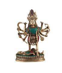 Collectible Home Decor Collectible India Unique Maa Kali Idol Durga Statue Stone Inlay