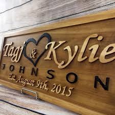 wedding gift name sign buy a made wedding gift wedding sign anniversary gift family