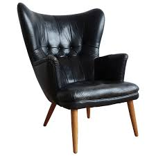 Black Wingback Chair Design Ideas Furniture Fantastic Black Leather Wingback Chair For
