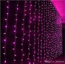 decoration lights for party shiny led curtain colored lights string with controller hanging