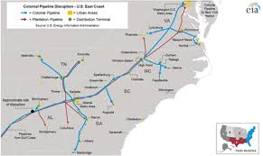 road map of southeast us pipeline shutdown disrupts gasoline supply in the southeast