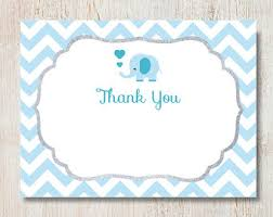 baby shower thank you blue elephant boy baby shower thank you cards picture truly
