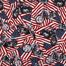 Harley Davidson Flags Timeless Treasures Patriotic American Flags And Harley Davidson