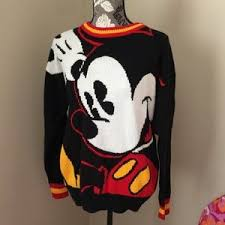 women u0027s mickey mouse sweater vintage poshmark
