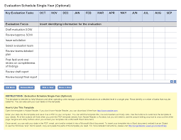 monitoring visit report template evaluation schedule single year optional project starter usaid