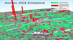 Arizona State Map With Cities by Maps Greenhouse Gas Emissions To Building Street Level For U S