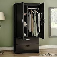 Wooden Armoire Wardrobe Amazon Com Organizer Dresser Huntington Armoire Wardrobe Closet