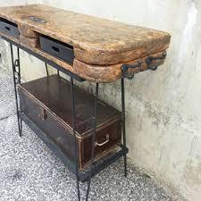 Rustic Vanity Table Rustic Vanity Table Salon Station Repurposed Industrial Salvaged