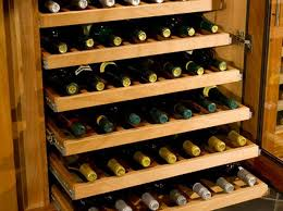 Roll Out Shelves by Wine Cabinet Features Refrigerated Wine Cabinet Options