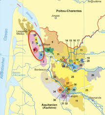 learn about st julien bordeaux map of left bank bordeaux towns we ll focus on the amherst wine