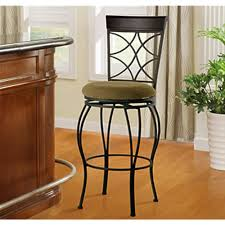 Linon Home Decor Bar Stools Linon Home Decor Claridge 24 In Dark Brown With Blue Cushion Bar