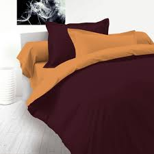 aubergine u0026 beige 100 cotton reversible bed linen set duvet