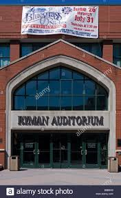 main doors of the ryman auditorium former home of the grand ole