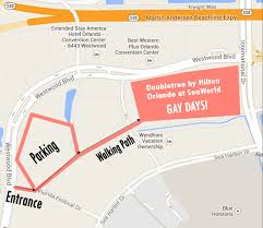 Orlando Florida On Map by Gaydays Host Hotel Parking