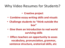 Resume Sentence Structure Student Video Resume Aple