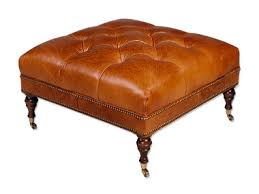 Leather Ottoman Tufted Leather Cocktail Ottoman Grover Leather Cocktail Ottoman