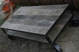 gray reclaimed wood coffee table coffee table vintage industrial rustic mid century reclaimed