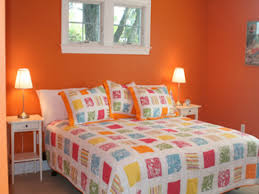 beautiful room decoration orange wall paint color ideas for the